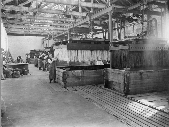 Large vats in dyehouse,Tomkinsons