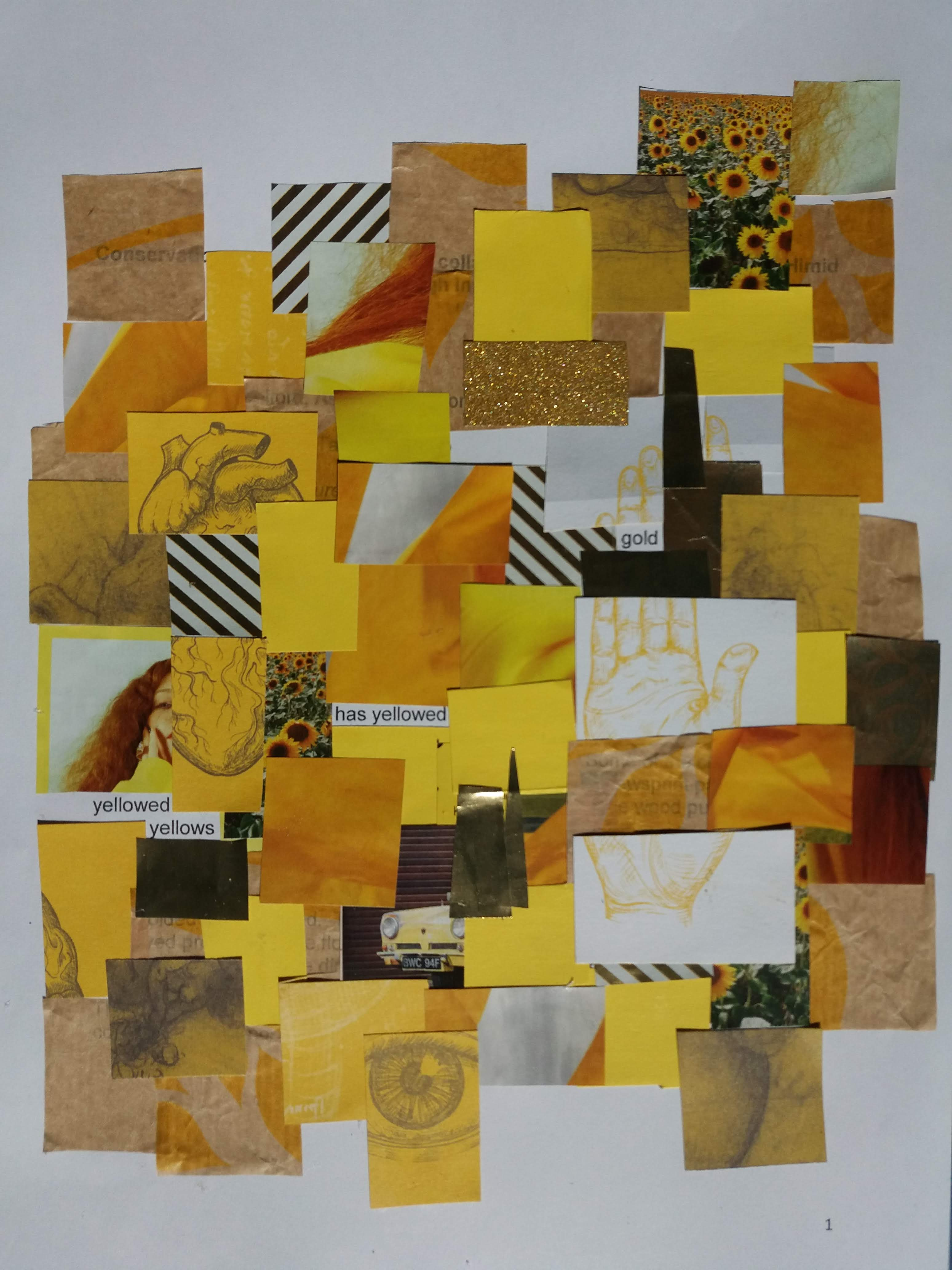 Gold Yellows collage after Himid